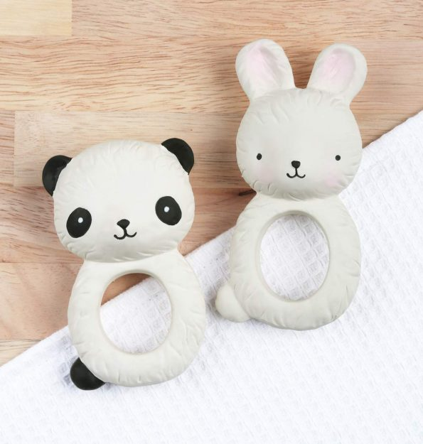 TRBUWH06-LR-10 teething ring bunny