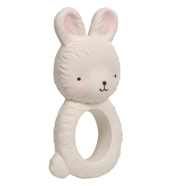 TRBUWH06-LR-2 teething ring bunny