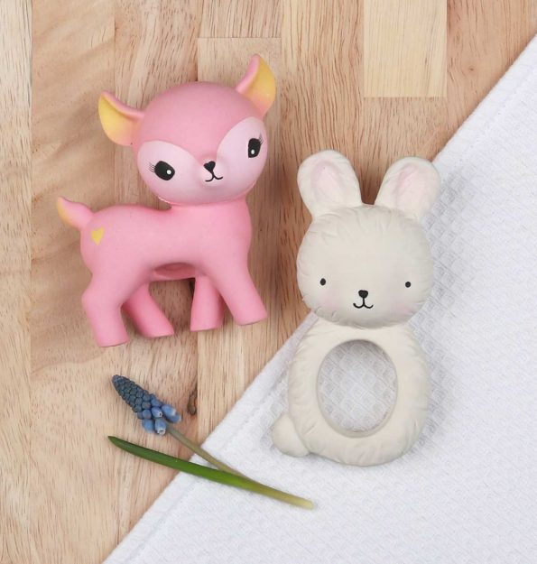 TRBUWH06-LR-7 teething ring bunny