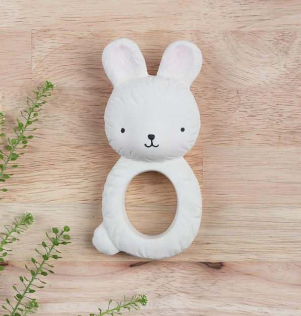 TRBUWH06-LR-9 teething ring bunny