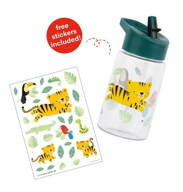 DBJTGR09-LR-32 drink bottle jungle tiger