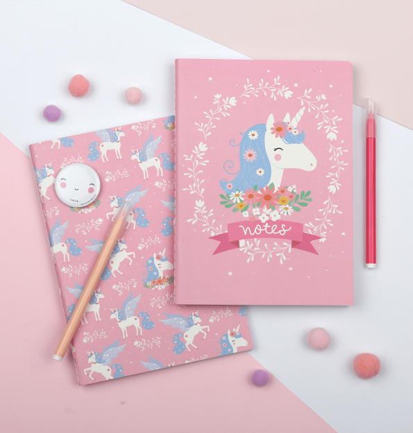 STNBLU03-LR-4 A5 notebooks unicorn