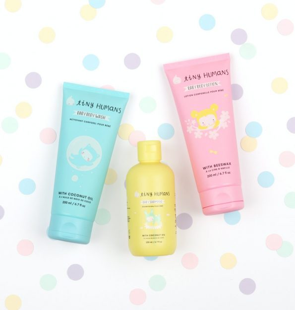 THBSHA01-LR-4 Tiny Humans Baby Shampoo flatlay with other products