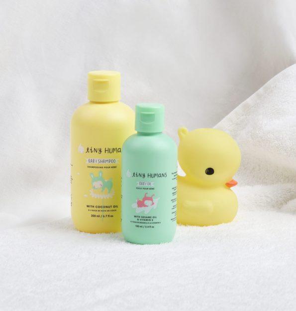 THBSHA01-LR-5 Tiny Humans Baby Shampoo lifestyle